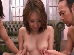 टैग: जापानी, तीन प्रतिभागियों का सम्भोग.