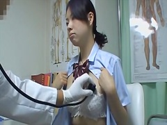 Medical voyeur cam shooting asian explored in gyno office.