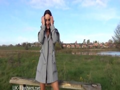 Exhibitionist chloe lovettes public flashing.