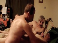 Older wife receives wild and fuck with two dudes.