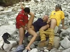 Sex in a mountain river.