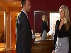 علامات: شقراوات, في المكتب, جوارب طويلة, صدور عالية.