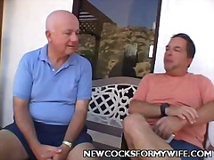 Horny wife balled in front of her husband this video is presented by new cocks for my wife.