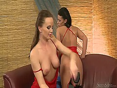 Tea and silvia saint show their love for pussy eating.