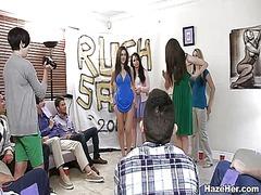 Group lesbian sex action.