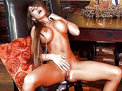 Madison ivy with big boobs and trimmed cunt spends time playing with herself.