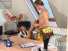 Gorgeous office prostitute alice provokes her co-worker mike and gets banged.