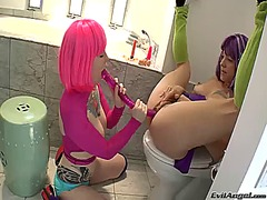 Belladonna is hungry for lesbian sex and gets used by misti dawn.