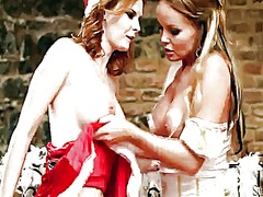 Tara white gives silvia saints muff a try in girl-on-girl action.