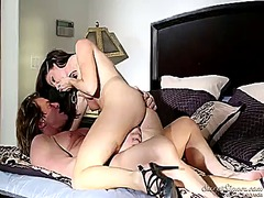 India summer warms evan stone up and takes his fuck stick in her mouth.