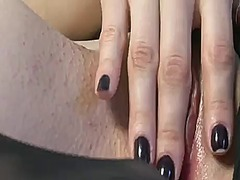 Playful hooker sasha grey with tiny tities and clean snatch reaches satisfaction in solo scene.